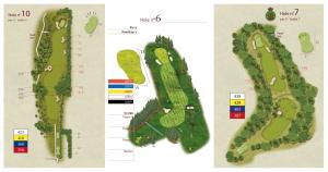 plan de parcours de golf